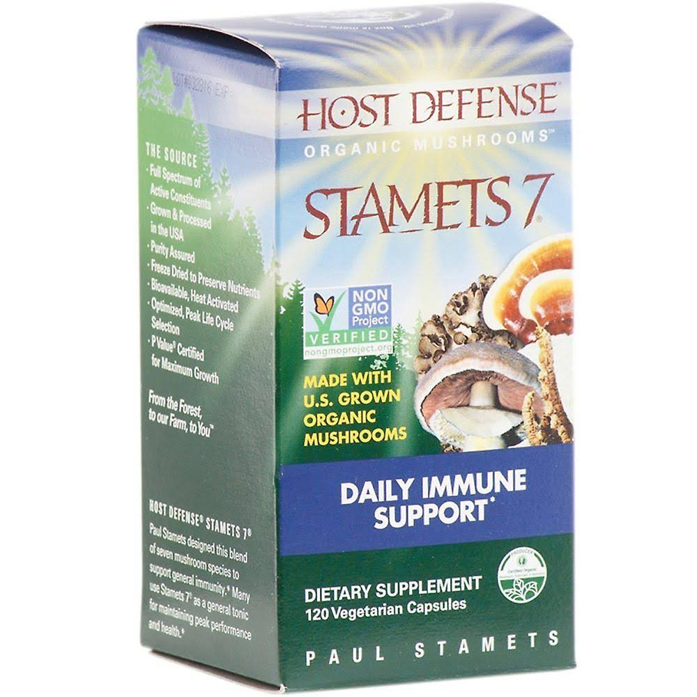 Fungi Perfecti Host Defense Stamets 7 - 120 Vegetarian Capsules