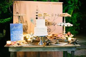 Outdoor Wedding Reception Dessert Table