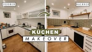 diy küchen makeover alte küche neu streichen komplette