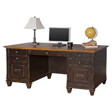 Sauder Edge Water Executive Desk by Martin Furniture Hartford Lateral File Cabinet Hayneedle