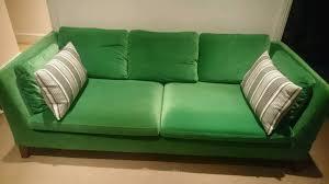 Ikea Stockholm Sofa For Three Seat Velvet Sandbacka Green Bargain Sectional Sofas