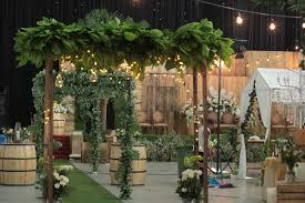 Reception Wedding Indoor Rustic Surabaya Indonesia