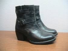 bed stu people womens bonnie ankle boots size 7 black rustic
