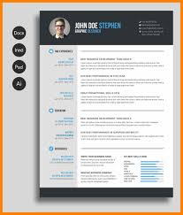 Modern Resume Template Free Word Doc