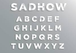 Font With Soft Shadow