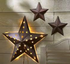 Of Indoor Outdoor Rustic Metal Barn Stars W Light