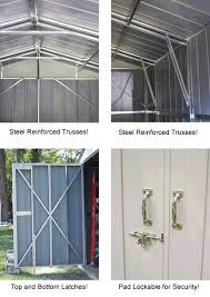 arrow 10x20 commander metal storage shed kit chd1020