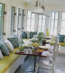 Sunroom With Banquette Seating And Wooden Table - Ideas Of ... Ergonomic Ballard Banquette 18 Designs Breton Fniture Built In Seating Corner Benches Ding Cushions For And Window Seat Best Online Sources Diy Bench Full Image For Impressive Owstynn Linen Modern Multiple Colors Walmartcom Kitchen Islands Seats Cool Modular L Shaped Banquette Upholstered Corner Seating Bench Seat Enchanting Upholstered Pictures Inspiration Rouge Whimsy Diy With Ikea Expedit How To Build Howtos Diy
