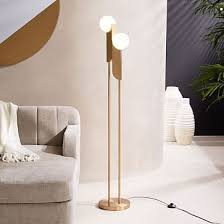 Overarching Floor Lamp Brass by Bower Floor Lamp Antique Brass Frosted Glass Floor Lamp