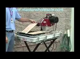 Mk Tile Saw Blades by Mk Diamond Mk 100 Tile Saw Demonstration Video Youtube