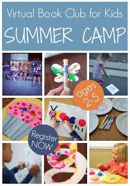 Virtual Book Club Summer Camp Includes THREE Weeks Of Childrens Themed Crafts And Activities For Kids Ages 2 5
