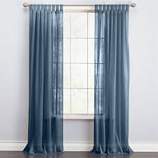 Brylane Home Lighted Curtains by Amazon Com Brylanehome Scenario Voile Tab Top Panels Autumn