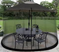 Image Is Loading 9 Foot Outdoor Umbrella Table Screen Enclosure Outdoors