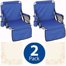 Stadium Chairs For Bleachers With Arms by 2 Portable Padded Folding Stadium Chairs With Arms Rest Blue Seat