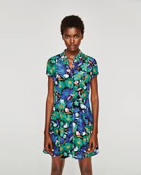 floral print dress view all dresses woman zara united states