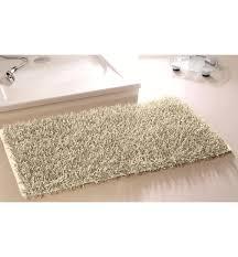 badematte hochflorteppich shaggy badteppich teppich creme