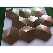 metal mosaic tile stainless steel tile pyramid patterns kitchen