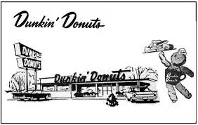 Dunkin Donuts 1960s Logo Building Mascot