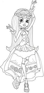 Free Printable Monster High Coloring Pages Frankie Stein 13 Wishes