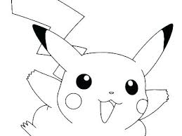 Pokemon Pikachu Coloring Pages Free Picture Color Printable Happy Colouring Mega