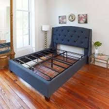 Full Size Bed Frame Sturdy Metal Mattress Platform Base No Box