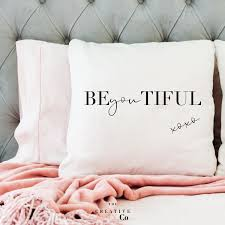 BeYouTiful Pillow | Bedroom Decor | Chair Cushion | Patio Chair Cushion |  Teen Girl Gifts | Throw Pillow Cover | The Creative Minx Co | TCMC How To Pick Perfect Decorative Throw Pillows For Your Sofa Lovesac Giant Pillow Chair Purewow Maritime Bean Bag 9 Cool Bedroom Ideas For Teenagers Overstockcom Cozy Papasan Astoldbymichelle Pasanchair Alluring Beach Themed Room Decorating Hotel Kid Bedroom Apartment Decor Boy Sets Bench Small White Cheap Teen Find Deals On 37 Design Teenage Girl And Cute Kids Ivy 54 Stylish Nursery Architectural Digest