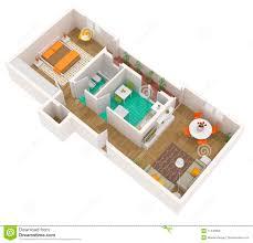 100 Tiny Apartment Layout 3d Floor Plan Apartment Stock Illustration Illustration