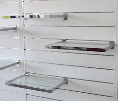 Retail Wall Shelving Display Systems Different Shelves Disigns Exporter From Faridabad White Colored Stainless Frame