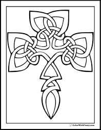 Celtic Coloring Pages 16 90 Irish Scottish Gaelic