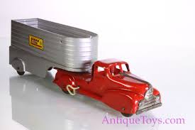 Marx Lumar Lines Truck And Trailer For Sale - Antique Toys For Sale Dickie Toy Dhl Yellow Man Truck Lorry Semi Trailer Model Youtube Toy Wood Tractor Trailer Truck Semi Etsy Beli Daymart Toys Remote Control Cars Mack Mainan Anak Amazoncom Off Road Police Transporter 132 Childrens Long Haul Trucker Newray Ca Inc Shop Velocity Power Freight Friction Ready To Harga Online Hot Pixar Lightning Mc Queen Chick Hicks Bruder Tga Low Loader With Jcb Backhoe On Motsports Race Car Kids Kelebihan Dan Affluent Town 1 Skala 64 Die Cast Scania Carrier Cek Boys Model Pull Back With