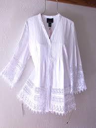 white crochet vintage lace linen peasant blouse boho shirt top 12
