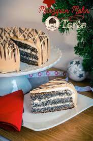 marzipan mohn torte mit zwetschken zimt marmelade