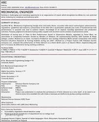 Mechanical Engineer Resume Examples Pdf New Electrical Fresher