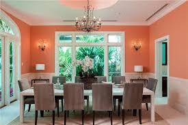 Orange White And Gray Dining Room