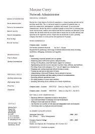 Network Administrator Resume Examples It Example Sample Routers Job Description Certification