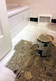 diy bathroom makeover how to paint linoleum flooring and bathroom