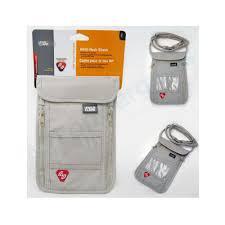 rfid neck stash pouch travel holder passport id wallet bag case by