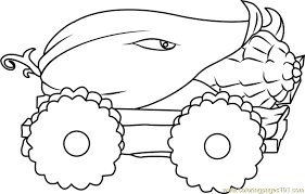 Plants Vs Zombies Coloring Pages Fun Printables Mlct1