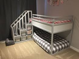 Ikea Kritter Bed by Ikea Kura Bed Hack Trofast Stairs Bunk Bed Diy Projects