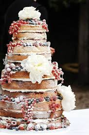 Un Iced Fruit Covered Wedding Cake This Is Similar To My