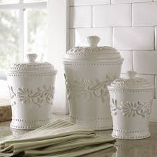 Ceramic Kitchen Canister Sets Kitchen Canister Set Ceramic White Ivory Counter Coffee