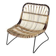 siege en rotin fauteuil en rotin et métal esprit vintage héloise canapes