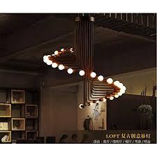 qwer pendant deckenleuchte le american retro loft industrial wind kreative len spiral cafe restaurant bar kronleuchter