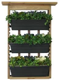 Algreen Products Gardenview Shelf With 3 Planters & Reviews