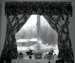 White Kitchen Curtains With Black Trim by White Curtains With Black Trim Uk Delightful Kitchen At On Ideas