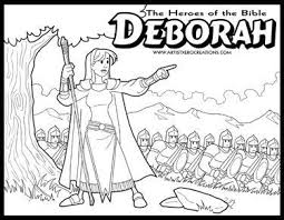 The Heroes Of Bible Coloring Pages Deborah