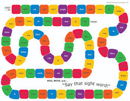 PDF Of The Say That Sight Word Game Board And Die Heavyweight Card Stock To Print On Scissors Glue Cut Fold Finish