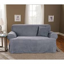Patio Cushion Slipcovers Walmart by Sure Fit Soft Suede T Cushion Loveseat Slipcover Walmart Com