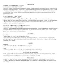 free resume templates professional exles for bottle service
