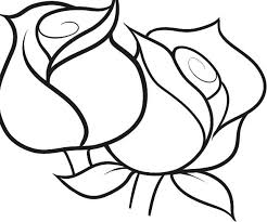 Roses Coloring Page For Kids